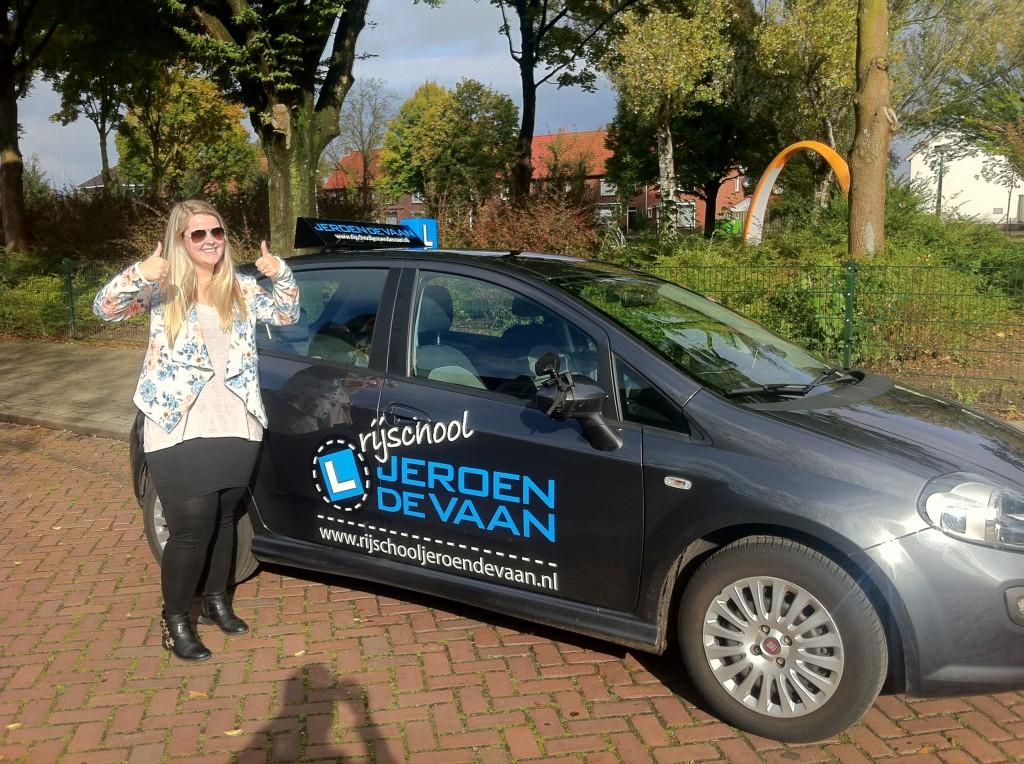Gefeliciteerd Freya van der Krieken! 2de leerling haalt het ook meteen de 1ste keer!
