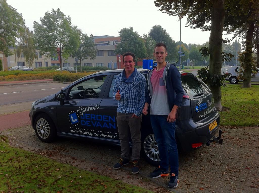 Gefeliciteerd Twan Coppelmans! Eerste leerling en ook meteen de 1ste keer gehaald!